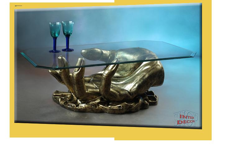 Neuheit Couchtisch Hand Wohnzimmertisch Tisch Glastisch