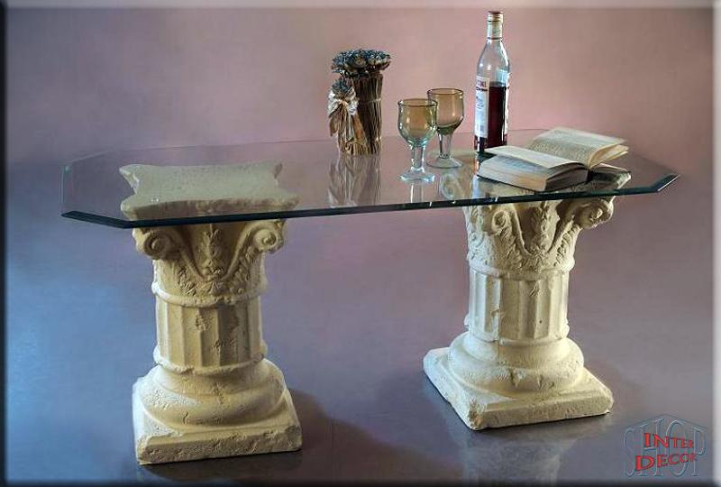 griechisch couchtisch s ulen wohnzimmertisch tisch. Black Bedroom Furniture Sets. Home Design Ideas