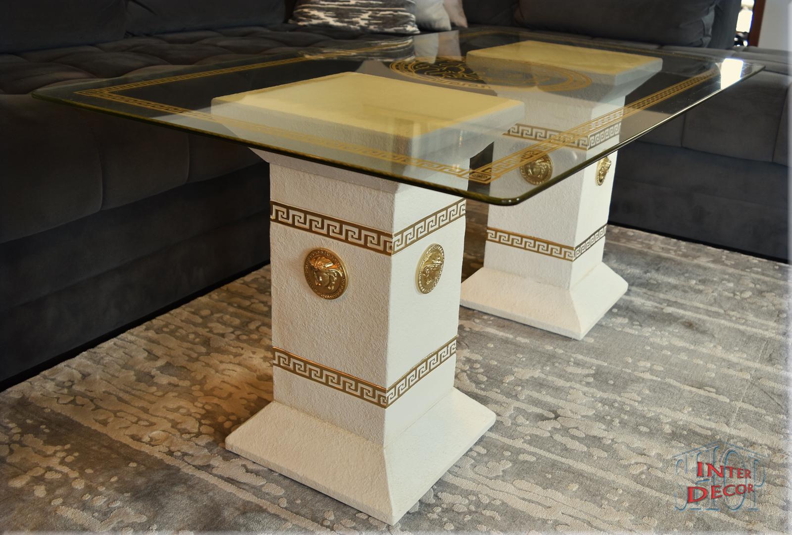Designer Sulen Couchtisch Medusa Mander Wohnzimmertisch Tisch