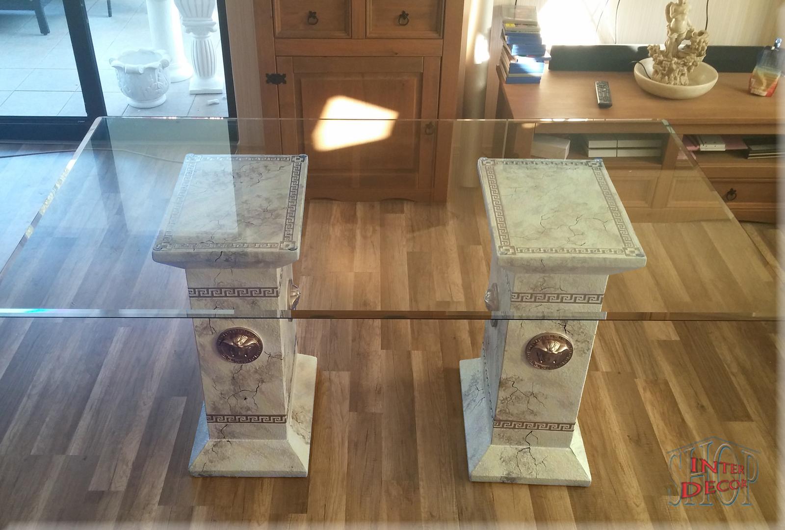 Designer Esstisch Medusa Brombel Tisch Glastisch Mander Marmor
