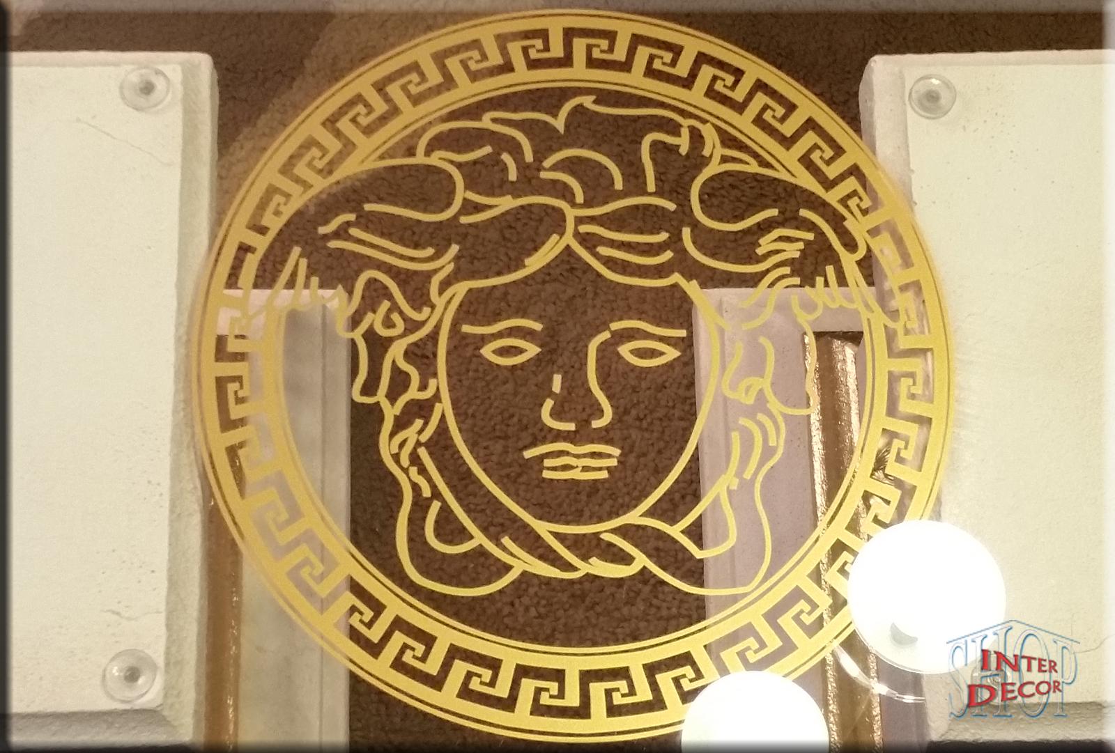 Glasplatte Mit Medusa Aufdruck