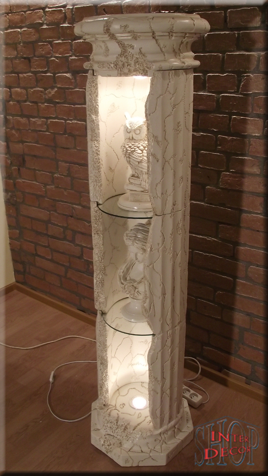 regal vitrine s ule s ulenvitrine s ulenregal bar. Black Bedroom Furniture Sets. Home Design Ideas