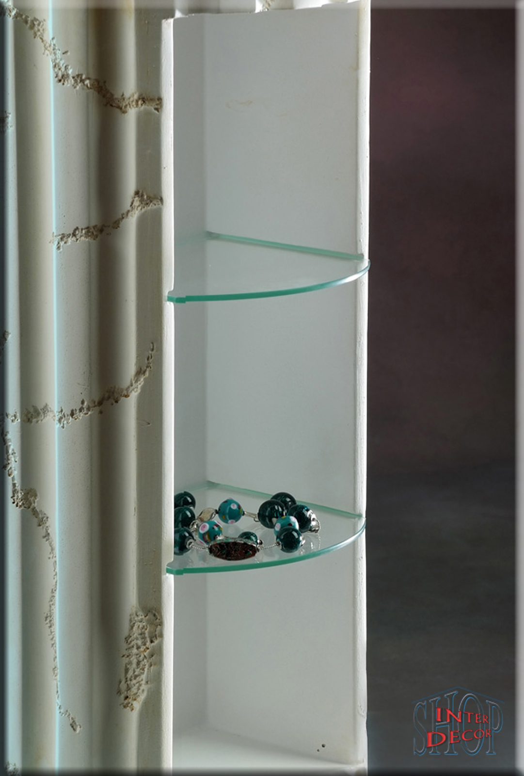 griechischer cd regal s ule s ulenregal regal vitrine cd st nder ebay. Black Bedroom Furniture Sets. Home Design Ideas